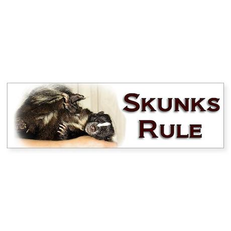 Skunks Rule Bumper Sticker