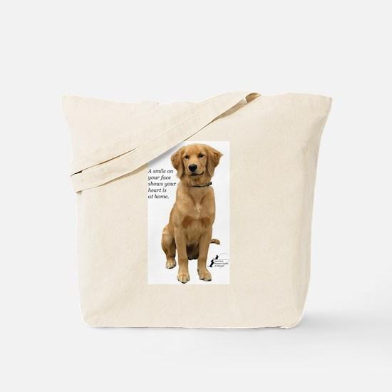 Smiling Golden Retriever Tote Bag