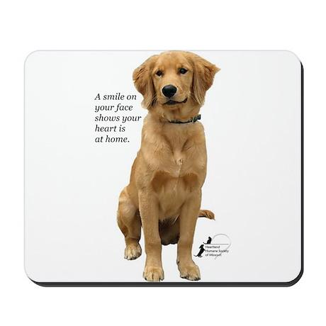Smiling Golden Retriever Mousepad