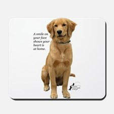 Smiling Golden Retriever Mousepad