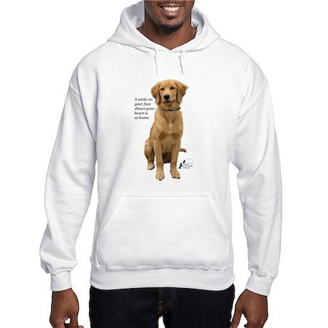 Smiling Golden Retriever Hooded Sweatshirt