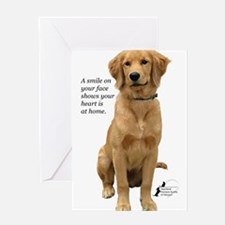 Smiling Golden Retriever Greeting Card