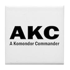 Komondor Commander Tile Coaster