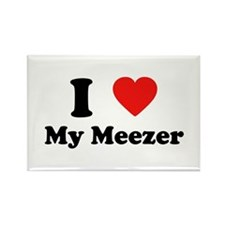 I Love My Meezer Rectangle Magnet