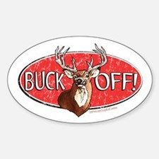 Buck Off Oval Decal