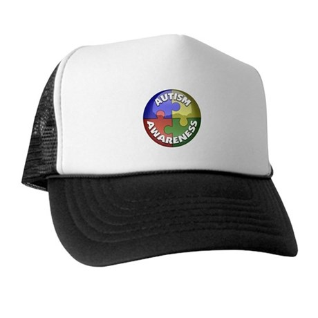 Autism Awareness Jewel Trucker Hat