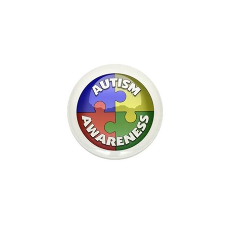 Autism Awareness Jewel Mini Button (10 pack)