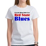 Red State Blues Women's T-Shirt