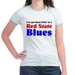 Red State Blues Jr. Ringer T-Shirt