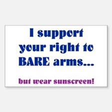 Right to Bare Arms Rectangle Decal