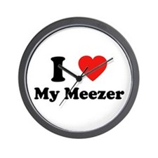 I Love My Meezer Wall Clock