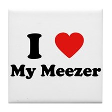 I Love My Meezer Tile Coaster