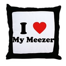 I Love My Meezer Throw Pillow
