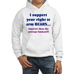 Right to Arm Bears Hooded Sweatshirt