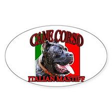 Cane Corso Italian Mastiff Oval Decal