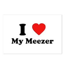 I Love My Meezer Postcards (Package of 8)