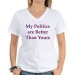 My Politics Women's V-Neck T-Shirt