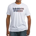 Iraq & a Hard Place #2 Fitted T-Shirt