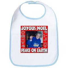 Joyous Noel Peace On Earth Bib