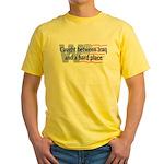 Iraq & Hard Place Yellow T-Shirt