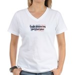 Iraq & Hard Place Women's V-Neck T-Shirt