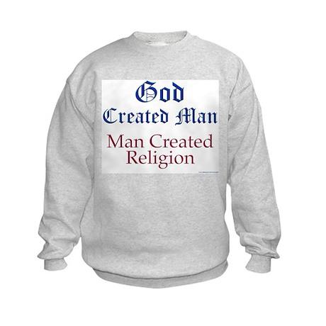 God and Man Kids Sweatshirt