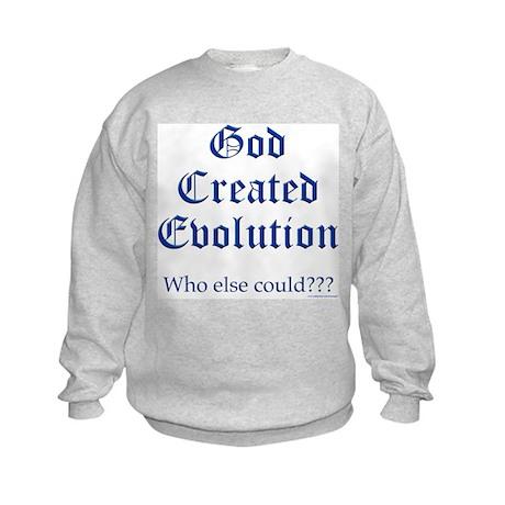 God Created Evolution #2 Kids Sweatshirt