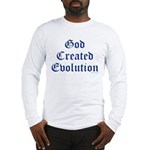 God Created Evolution #1 Long Sleeve T-Shirt