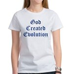 God Created Evolution #1 Women's T-Shirt