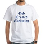 God Created Evolution #1 White T-Shirt