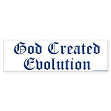 God Created Evolution #1 Bumper Bumper Sticker