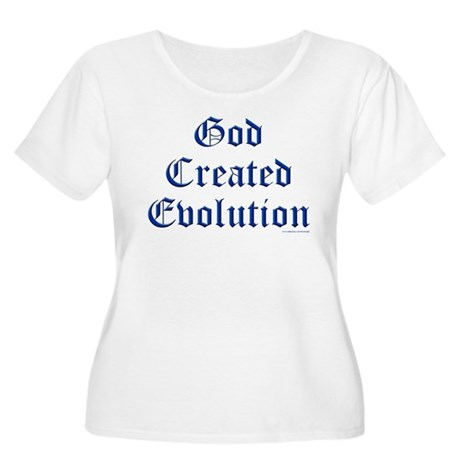 God Created Evolution #1 Women's Plus Size Scoop N