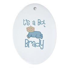 Brady's - It's a Boy Oval Ornament