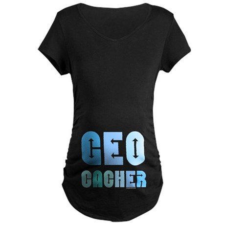 Geocacher Arrows Blue Maternity Dark T-Shirt