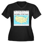 WMD Map Women's Plus Size V-Neck Dark T-Shirt