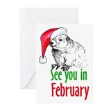 Ground hog Greeting Cards (10 Pack)