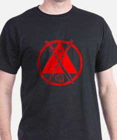 Escrima, Arnis red on black T-Shirt