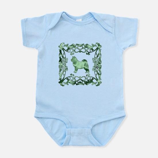 Alaskan Malamute Lattice Infant Bodysuit