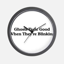 blinking ghosts taste good Wall Clock