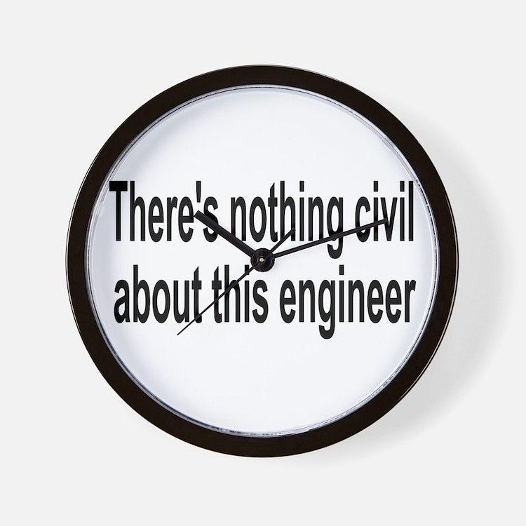 Civil Engineer Wall Clock