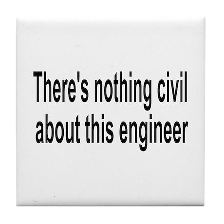 Civil Engineer Tile Coaster