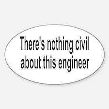 Civil Engineer Oval Decal