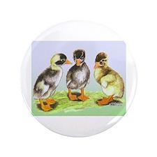 """Runner Duck Ducklings 3.5"""" Button"""