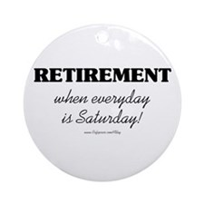 Retirement Weekend Ornament (Round)