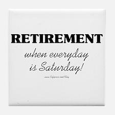 Retirement Weekend Tile Coaster