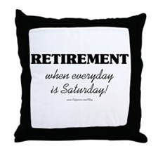 Retirement Weekend Throw Pillow