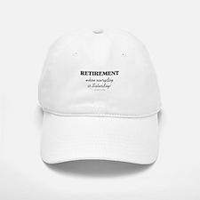 Retirement Weekend Baseball Baseball Cap