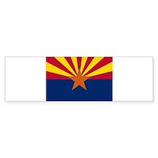 """""""Arizona State Flag"""" Bumper Bumper Sticker"""