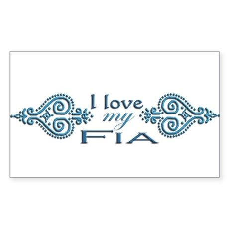 Mendhi-Fia Rectangle Sticker