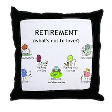 Retirement Love Throw Pillow